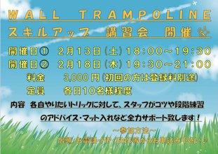2月 ウォールトランポリン スキルアップ講習会!